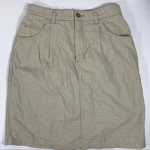 Lizwear Houndstooth Check Pencil Skirt Tan size 10